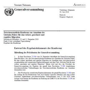 Der gefährliche UNO-Migrationspakt auf 32 Seiten