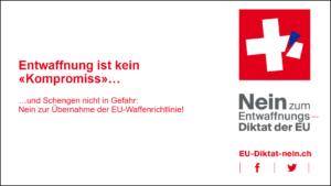 Seminar zum Argumentieren gegen die Übernahme der EU-Waffenrichtlinie