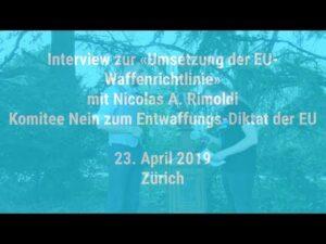 Interview: Nicolas A. Rimoldi - Komitee Nein zum Entwaffnungs-Diktat der EU (WaffenGe)