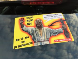 BEI JEDEM WETTER FLAGGE ZEIGEN ‼️ Am 19. Mai NEIN! NON! NO! zum EU-Entwaffnungsgesetz!