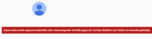 YouTube löscht Patriotisches Konto FREIE-HEIMAT mit 10`000 Abonnenten!