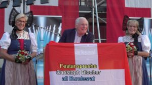Bundesfeier 2019 in Arbon mit a. Bundesrat Christoph Blocher am 31.7.2019
