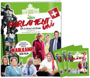 Parlamentini Stickeralbum zu den Wahlen 2019