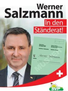 Nationalratswahlen 2019: Werner Salzmann in den Ständerat !