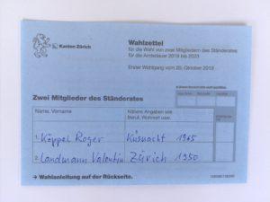 Nationalratswahlen 2019: Roger Köppel in den Ständerat !