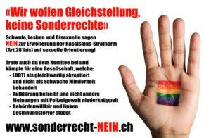 Schwule, Lesben und Bisexuelle sagen Nein zum Zensurgesetz !
