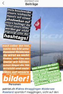 Instagram zensuriert mit #hashtag Shadowban