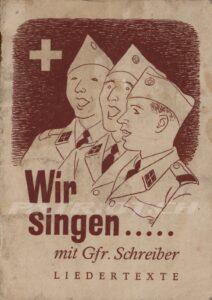 Wir singen ..... mit Gfr. Schreiber - Ausgabe 08.1964