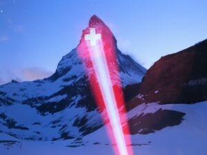 Matterhornbeleuchtung als Zeichen der Hoffnung, täglich bis 19. April !