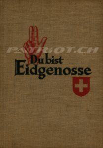 Du bist Eidgenosse - Ausgabe St.Gallen 1939 - Titel Frakturschrift