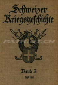 Schweizer Kriegsgeschichte - Band 3 - Heft 5-8 - Verlag Oberkriegskommissiariat