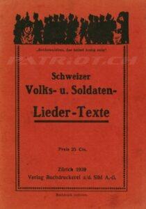 Schweizer Volks- u. Soldaten- Lieder-Texte