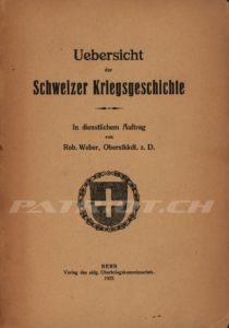 Uebersicht der Schweizer Kriegsgeschichte - Verlag Oberkriegskommissiariat