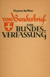 vom Bundesbrief ZUR BUNDESVERFASSUNG - Im Hof Ulrich - Band 5