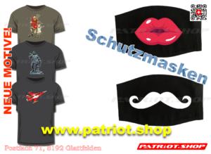 T-Shirt und Schutzmasken; Neue Motive