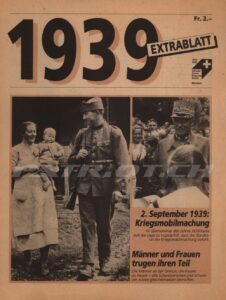 1939 EXTRABLATT - Projektleitung Diamant Bern
