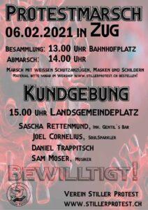 Heute 13.00 Protestmarsch & 15.00 Kundgebung in Zug