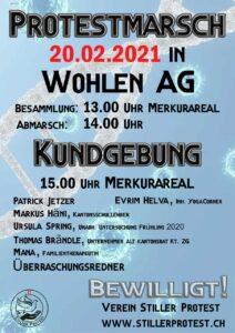 Samstag 13.00 Protestmarsch & 15.00 Kundgebung in Wohlen AG - Kommt alle!