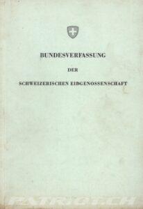 Bundesverfassung der schweizerischen Eidgenossenschaft - 1874