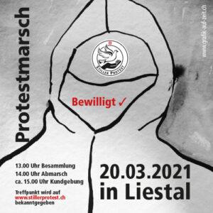Impressionen Stiller Protest in Liestal