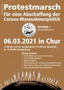 Samstag 13.00 Protestmarsch & 15.00 Kundgebung in Chur GR - Kommt alle!