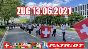 Demozug mit Freiheitstrychler & Kundgebung Stiller Protest in Zug ZG
