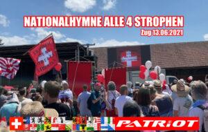 Nationalhymne alle 4 Strophen an Kundgebung in Zug