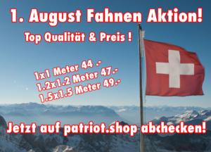 1. August Fahnen Aktion!