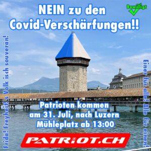 Grossmobilisation! Demo Luzern - NEIN zu den Covid-Verschärfungen!
