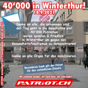 40'000 in Winterthur! - 18.09.2021