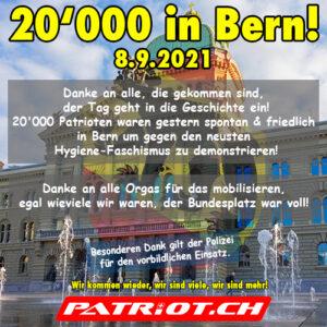 20`000 an Demo in Bern! - 08.09.2021