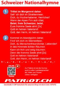 Schweizer Nationalhymne A6 Flyer