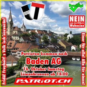 Patrioten kommen nach Baden AG - Einer für alle! Alle für einen!