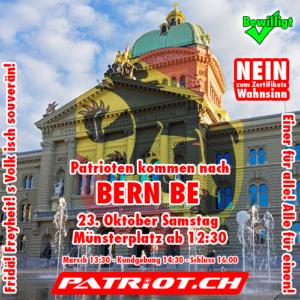 Patrioten kommen nach Bern BE - Einer für alle! Alle für einen!