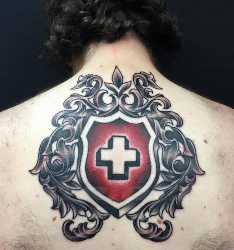 #tattoo #tattoos #schweizerkreuz #wappen