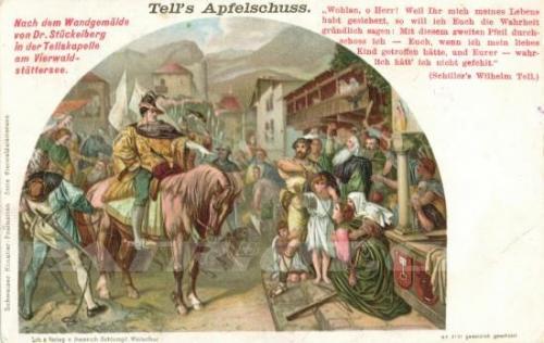 #wilhelmtell #tellskapelle #gessler #apfelschuss #postkarte