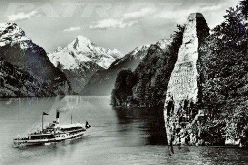 #wilhelmtell #schillerstein #mythenstein #dampfschiff #postkarte
