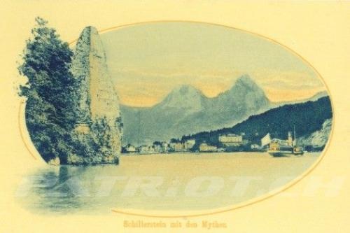 #wilhelmtell #schillerstein #mythenstein #mythen #postkarte