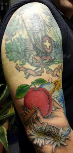 #tattoo #tattoos #helvetia #edelweiss #apfelschuss