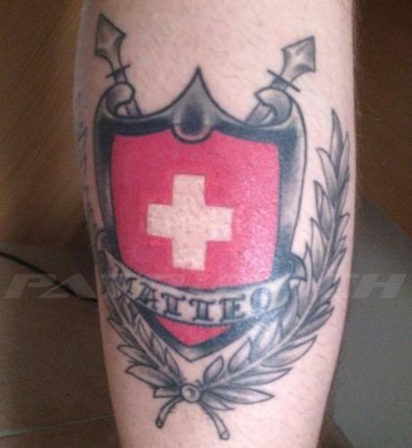 #tattoo #tattoos #schild #schweizerkreuz