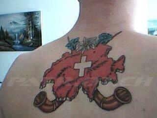#tattoo #tattoos #alphorn #edelweiss #enzian #schweizerkreuz #landesgrenze #proborder