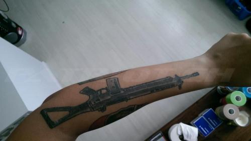 #tattoo #tattoos #stgw90 #sig550 #sturmgewehr #waffenrecht