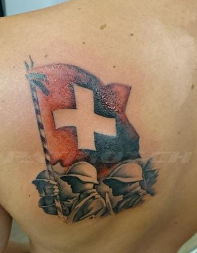 #tattoo #tattoos #fahne #fahnenträger #armee #militär #ww2