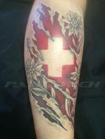 #tattoo #tattoos #edelweiss #schweizerkreuz