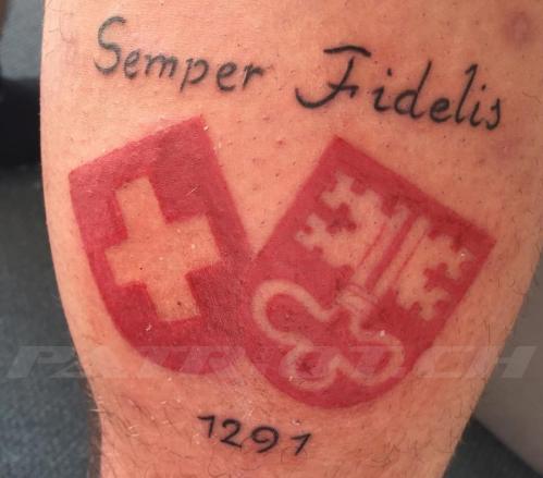 #tattoo #tattoos #semperfidelis #1291 #wappen #schweizerkreuz #nidwalden