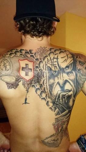 #tattoo #tattoos #schweizerkreuz #wappen #edelweiss