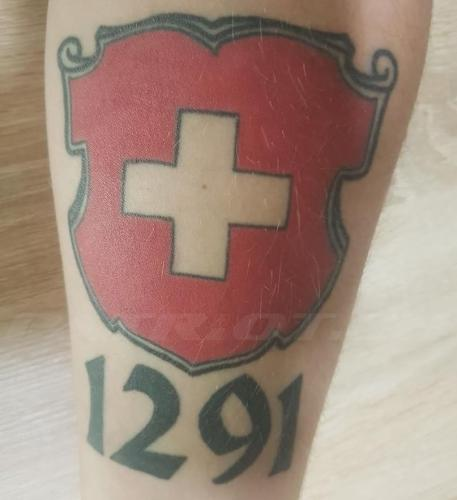 #tattoo #tattoos #schild #schweizerkreuz #1291