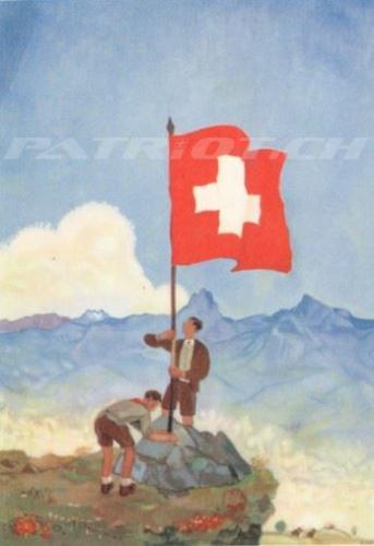 #fahne #fahnenträger #postkarte #1august #nationalfeiertag #bundesfeier #fêtenationale #1eraoût #festanazionale #1agosto