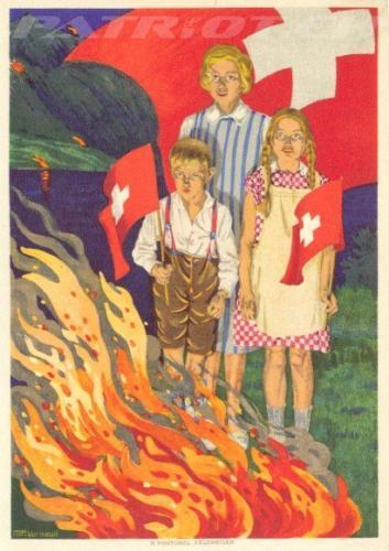 #postkarte #höhenfeuer #fahne #fähnli #1august #nationalfeiertag #bundesfeier #fêtenationale #1eraoût #festanazionale #1agosto