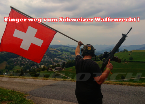 #waffenrecht #sig550 #stgw90 #fahne #freiheit #waffenrichtlinie #entwaffnung #freiheitsfeindlich #referendum #schiesssport #guns